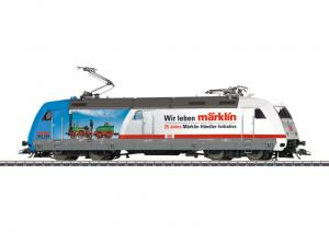 "39374 Ellok klass 101 (DB AG) ""Wir leben Märklin"" Advertising design for the anniversary ""25 Jahre MHI"" / ""25 Years of the MHI"" included."