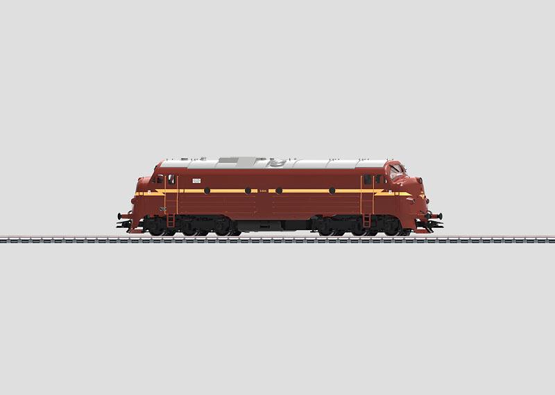 39671 Diesellok klass Di3 typ NSB brunt utförande Nyhet 2014