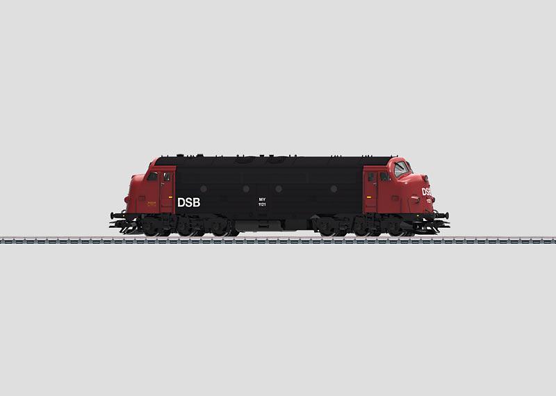 39674 Diesellok klass MY 1100 typ DSB svart / röd Nyhet 2014