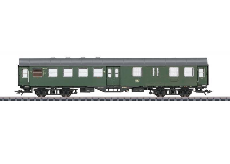"""Märklin 41330 Personvagn ( DB ) Type BD4yge """"Rebuild Car"""", 2nd class med baggage avdelning Nyhet 2021 Förboka ditt exemplar"""