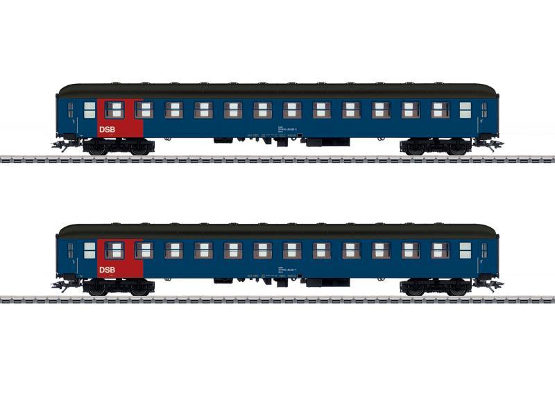 Märklin 42695 Danskt vagnset (DSB) type Bcm passenger cars, 2nd class Nyhet 2020 Förboka ditt exemplar