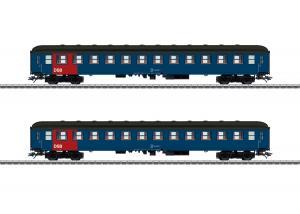 Märklin 42695 Danskt vagnset (DSB) type Bcm passenger cars, 2nd class Nyhet 2020