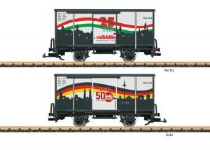 """LGB 43264 Godsvagn """" Sonderwagen """" 25 Jahre Märklin Hungaria """""""