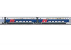 Märklin SET 1 43423 ( SNCF ) TGV Euroduplex utbyggnadsvagnset passandes till 37793 Nyhet 2021 Förboka ditt exemplar
