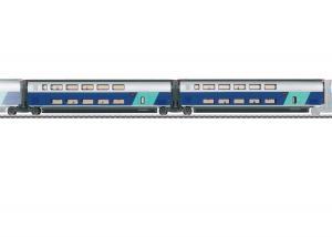 Märklin SET 2 43433 ( SNCF ) TGV Euroduplex utbyggnadsvagnset passandes till 37793 Nyhet 2021 Förboka ditt exemplar