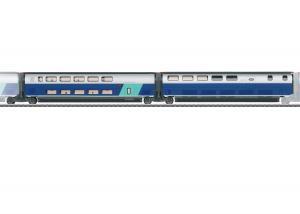 Märklin SET 3 43443 ( SNCF ) TGV Euroduplex utbyggnadsvagnset passandes till 37793 Nyhet 2021 Förboka ditt exemplar