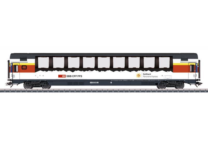 "Märklin 43652 Personvagn ( SBB / CFF / FFS ) type Apm ""Gotthard Panorama Express"" Nyhet 2021 Förboka ditt exemplar"