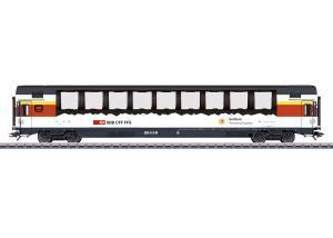 """Märklin 43652 Personvagn ( SBB / CFF / FFS ) type Apm """"Gotthard Panorama Express"""" Nyhet 2021"""