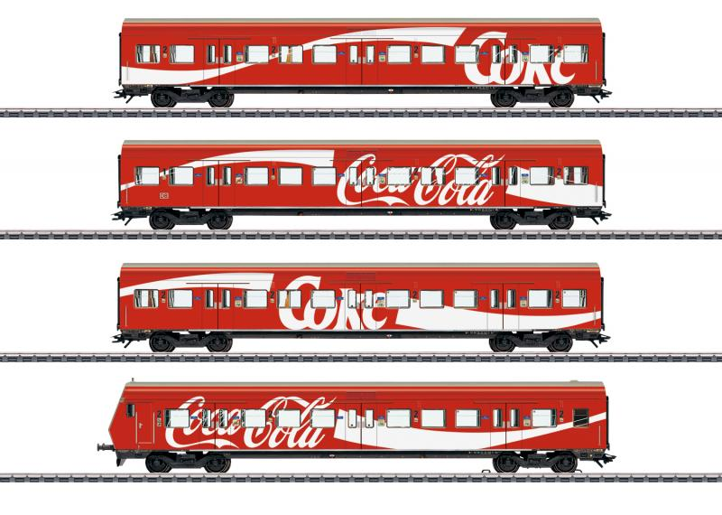 Märklin 43890 Personvagnset (DB AG) S-Bahn cars with Coca Cola® Nyhet 2020