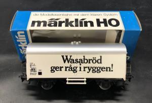 """Märklin 4566 SJ Kylvagn """" Wasabröd """"  år 1982"""