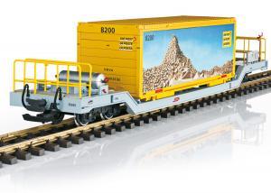 """LGB 45925 Containervagn Postvagn RhB """" DIE POST """" Nyhet 2021 Förboka ditt exemplar"""