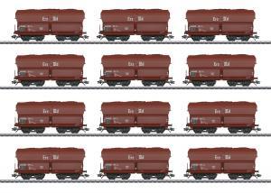 """Märklin 46213 Godsvagnset med 12st ( DB ) type Fad 155 """" Erz IIId """" Langer Heinrich Nyhet 2021 Förboka ditt exemplar"""
