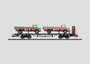 46285 Flakvagn Fordonstransport med lastbil