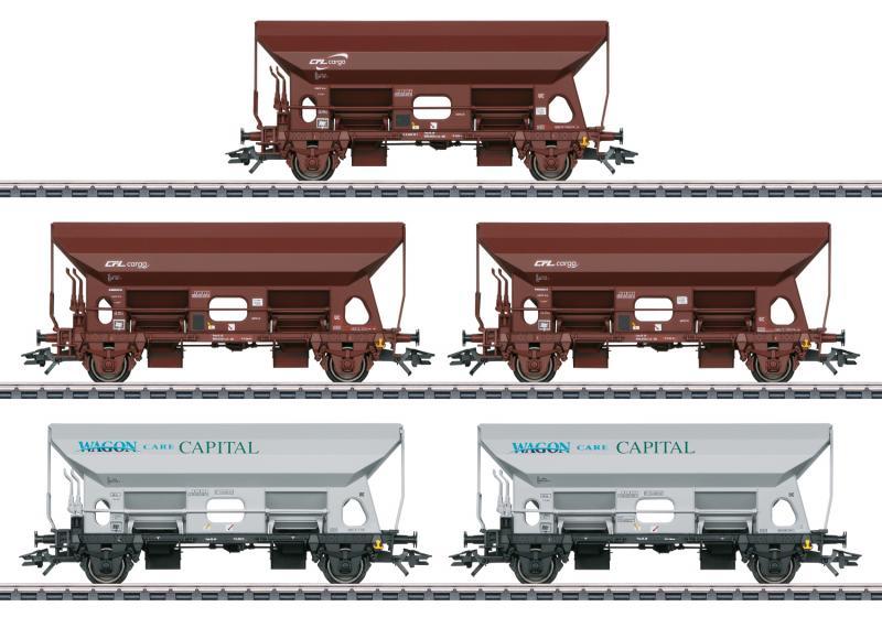 Märklin 46307 Vagnset med 5st Tds hopper vagnar  ( CFL ) Wagon Care Capital ( WCB ) Nyhet 2021 Förboka ditt exemplar