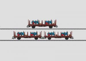 46400 Godsvagnset lastade med Lanz traktorer