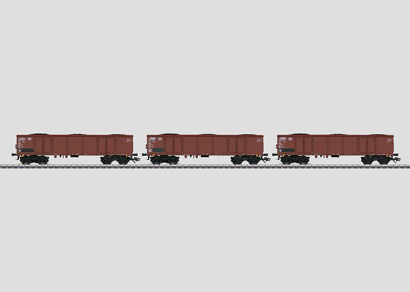 46900 Vagnsset med 3 Eaos 106 gondolavagnar DB med kol last Nyhet 2014