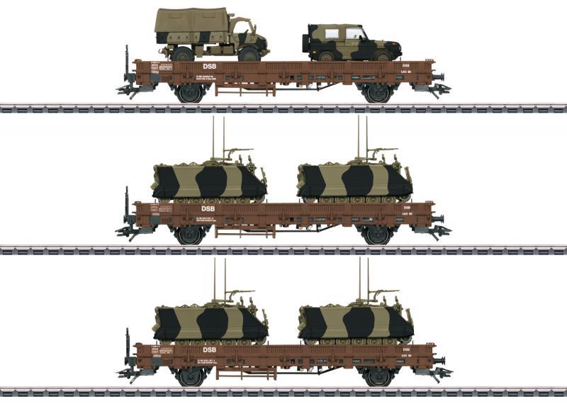 """Märklin 46934 Vagnset (DSB) type Kbs """"Military Transport"""""""