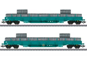 Märklin 47107 Italienskt (FS) Vagnset type Res med last av stålrullar Nyhet 2021