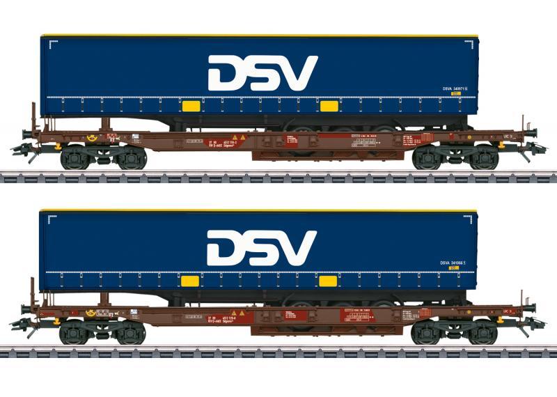 Märklin 47111 Vagnset DSV Container Nyhet 2021 Förboka ditt exemplar