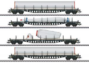 Märklin 47134 Vagnset med last i form utav vindkraft ( DB AG ) type Rs 684 Sommarnyhet 2021 Förboka ditt exemplar