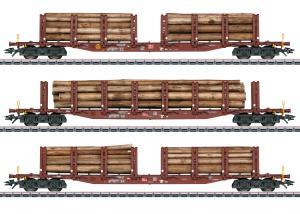 Märklin 47146 Stolpvagnset med last av timmer ( DB AG ) type Snps 719 Nyhet 2021 Förboka ditt exemplar