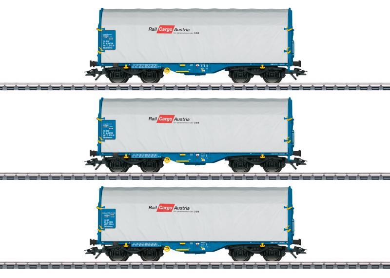 Märklin 47225 Godsvagnset typ Shimmns Rail Cargo Wagon - Austria GmbH (RCW). Nyhet 2020
