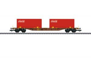 "Märklin 47434 Flakvagn Type Sgns Container ""Coca-Cola"""