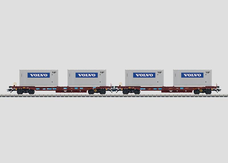 47454 Containervagnset Volvo vagnar SJ