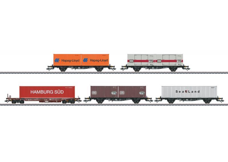Märklin 47689 Containervagnset Lbgjs 598 und Sks-z 707 DB
