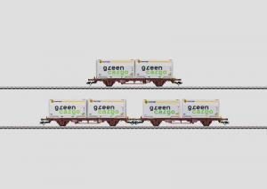 "47723 Containervagnsset 3 vagnar Lgjs typ SJ ""Green Cargo"""