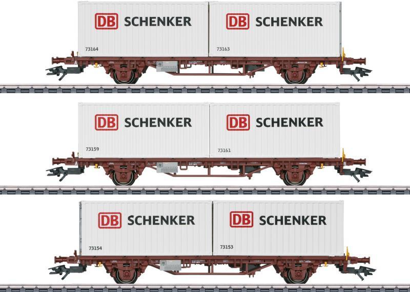 Märklin 47725 Type Lgs Containervagnset Schenker NSB