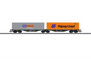 Märklin 47807 Container vagnset Type Sggrss 80 Nyhet 2021 Förboka ditt exemplar