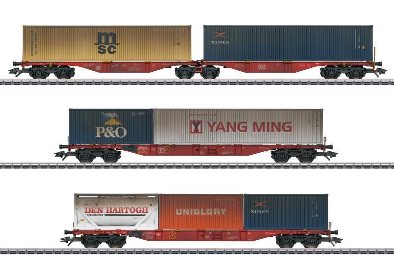Märklin 47810 Containervagnset type Sggrss