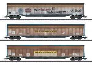 """Märklin 48063 Godsvagnset type Habins 12 """"Transwaggon"""" DB"""