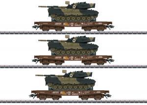 """Märklin 48795 Vagnset Type Slmmps Heavy-Duty DSB """"Danish Army"""""""