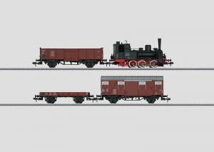 """55028 Startset """"Frakttåg"""" Tanklok klass 89.70-75 med 3 vagnar DB"""