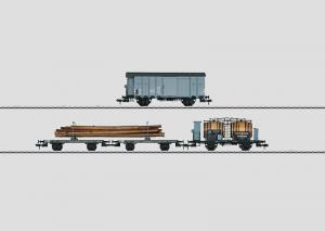 58403 Sats med 3 schweiziska godsvagnar