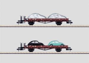 58498 Flakvagn Ro 10 med VW bilar DB