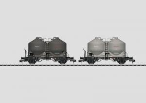 58614 Vagnset med 2 Silovagnar Typ Kds 56 DB