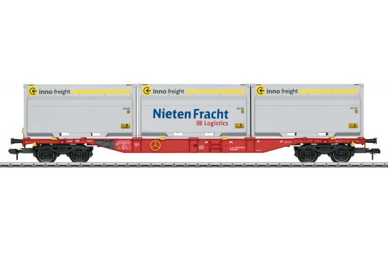 """Märklin 58641 Containervagn (DB AG) type Sgns 691 """" Innofreight """" Höstnyhet 2021 Förboka ditt exemplar"""