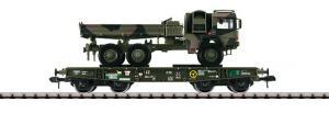 58658 4MFOR Tunglastvagn Rlmmps (BA 650) DB + LKW
