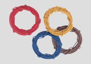 71060 Kabel 0,75 mm2 10m längd färg röd/brun/blå/gul