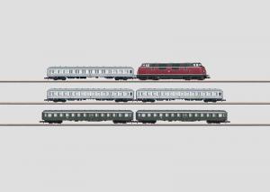 81175 Tågset V200 diesel 5 st personvagnar DB INSIDER