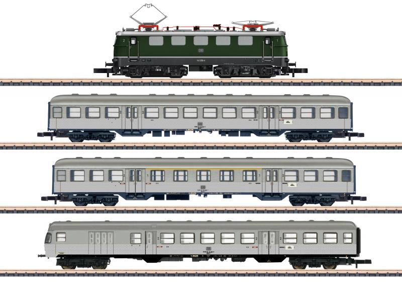 """Märklin 81356 Diesellok class 141 Tågset DB """"Commuter Service"""" Nyhet 2020 Förboka ditt exemplar"""