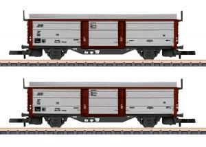 """Märklin 82153 Vagnset med 2 (DB) type Tbes-t-68 """" sliding roof / sliding wall """" Nyhet 2021 Förboka ditt exemplar"""