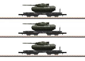 Märklin 82229 Vagnset DB Heavy-Duty Leopard 1A1 tanks Nyhet 2020 Förboka ditt exemplar