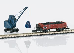 Märklin 82337 Godsvagn DB type O 10 lastad med kol och en grävmaskin Nyhet 2021