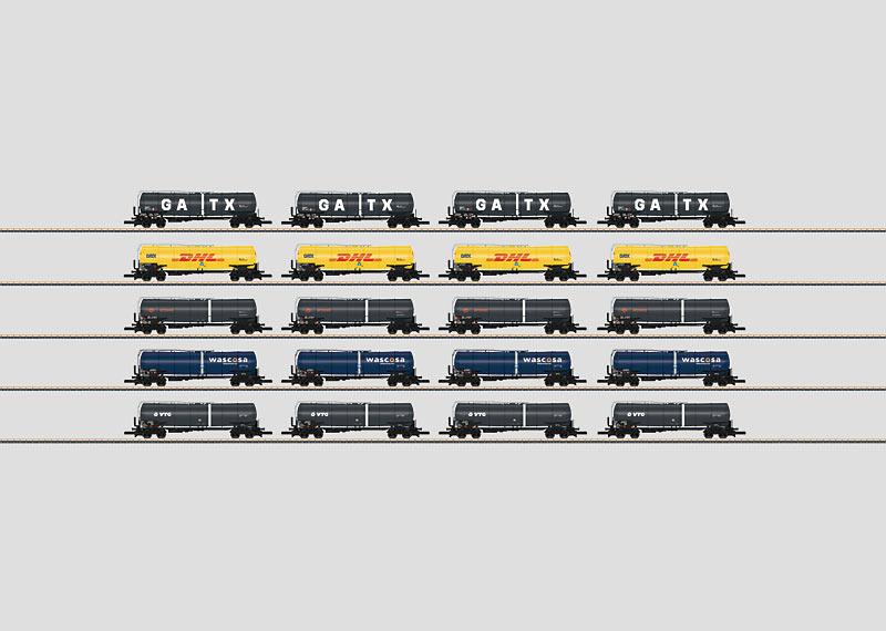 Märklin 82530 Freight Car Display with 20 Different Tank Cars OBS PRIS PER STYCK