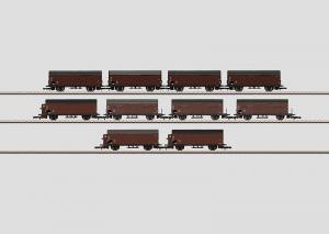 82559 Vagnsdisplay med 10st godsvagnar Typ Gl 11 DB Nyhet 2014