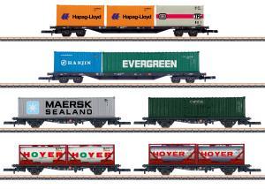 Märklin 82665 Vagnset med 6st containervagnar ( DB AG ) Nyhet 2021